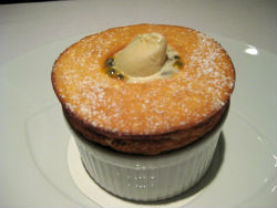 The Ledbury - Passion Fruit Soufflé with Sauterne Ice Cream